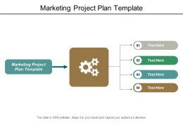Marketing Project Plan Template Ppt Powerpoint Presentation Model Ideas Cpb