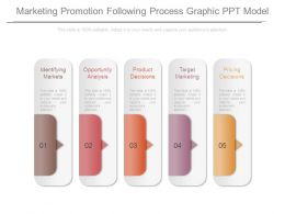 Marketing Promotion Following Process Graphic Ppt Model