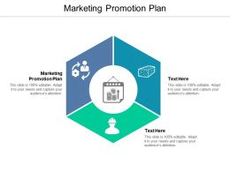 Marketing Promotion Plan Ppt Powerpoint Presentation Model Professional Cpb