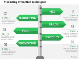 Marketing Promotion Techniques Flat Powerpoint Design