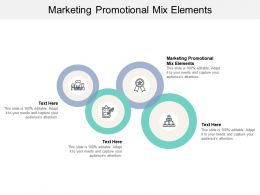 Marketing Promotional Mix Elements Ppt Powerpoint Presentation Model Graphics Pictures Cpb