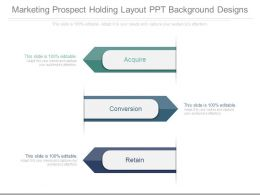 Marketing Prospect Holding Layout Ppt Background Designs