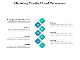 Marketing Qualified Lead Parameters Ppt Powerpoint Presentation Icon Show Cpb