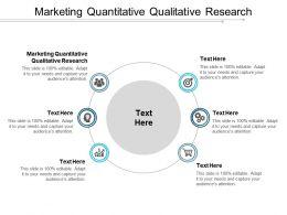 Marketing Quantitative Qualitative Research Ppt Powerpoint Presentation Gallery Show Cpb