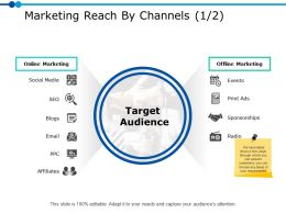 Marketing Reach By Channels 1 2 Ppt Powerpoint Presentation Gallery Inspiration