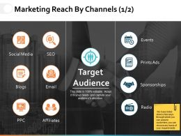 Marketing Reach By Channels Ppt Powerpoint Presentation File Gridlines
