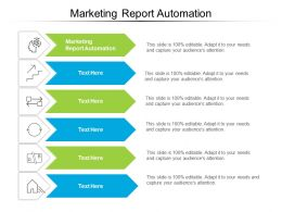 Marketing Report Automation Ppt Infographic Template Summary Cpb