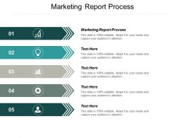 Marketing Report Process Ppt Powerpoint Presentation Summary Infographics Cpb