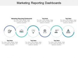 Marketing Reporting Dashboards Ppt Powerpoint Presentation Show Graphics Tutorials Cpb