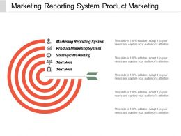 Marketing Reporting System Product Marketing System Strategic Marketing Cpb