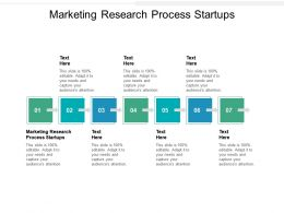 Marketing Research Process Startups Ppt Powerpoint Presentation Ideas Graphics Example Cpb