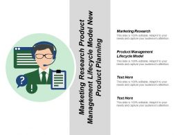 Marketing Research Product Management Lifecycle Model New Product Planning