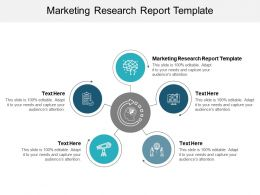 Marketing Research Report Template Ppt Powerpoint Presentation Summary Visuals Cpb