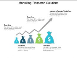 Marketing Research Solutions Ppt Powerpoint Presentation Ideas Layout Ideas Cpb