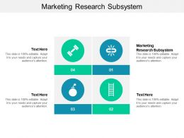 Marketing Research Subsystem Ppt Powerpoint Presentation Professional Format Cpb