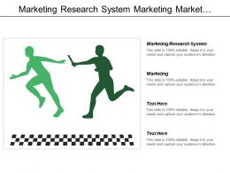 Marketing Research System Marketing  Market Segmentation Marketing Targeting