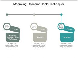 Marketing Research Tools Techniques Ppt Powerpoint Presentation Gallery Layouts Cpb