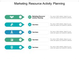 Marketing Resource Activity Planning Ppt Powerpoint Presentation Summary Graphics Pictures Cpb