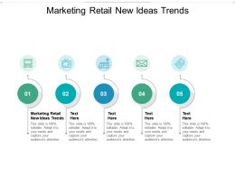 Marketing Retail New Ideas Trends Ppt Powerpoint Presentation Gallery Samples Cpb