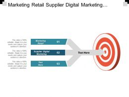 Marketing Retail Supplier Digital Marketing Customer Data Analytics Cpb