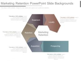 Marketing Retention Powerpoint Slide Backgrounds