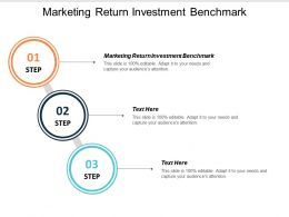Marketing Return Investment Benchmark Ppt Powerpoint Presentation Icon Structure Cpb