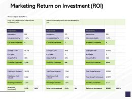 Marketing Return On Investment ROI Marketing Investment Ppt Powerpoint Presentation Slides Gridlines