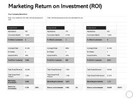 Marketing Return On Investment ROI Ppt Powerpoint Presentation Ideas
