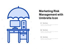 Marketing Risk Management With Umbrella Icon