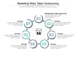 Marketing Risks Taken Outsourcing Ppt Powerpoint Presentation Professional Influencers Cpb