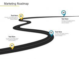 Marketing Roadmap Financial Market Pitch Deck Ppt Infographics