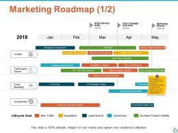Marketing Roadmap Planning Ppt Show Infographic Template