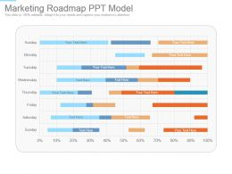 Marketing Roadmap Ppt Model