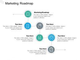 Marketing Roadmap Ppt Powerpoint Presentation File Inspiration Cpb