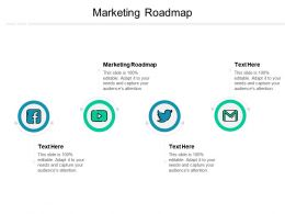 Marketing Roadmap Ppt Powerpoint Presentation Ideas Display Cpb