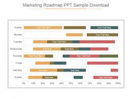 Marketing Roadmap Ppt Sample Download