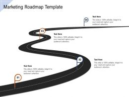 Marketing Roadmap Template Ppt Powerpoint Presentation Ideas Visuals