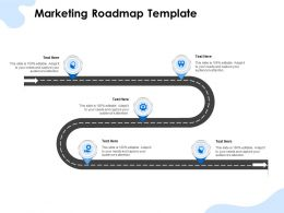 Marketing Roadmap Template Ppt Powerpoint Presentation Styles Mockup