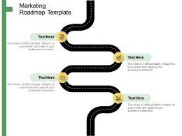 Marketing Roadmap Template Ppt Powerpoint Presentation Summary Design Ideas