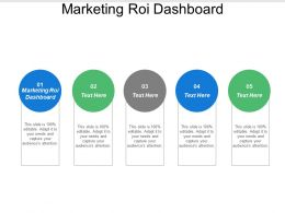 Marketing Roi Dashboard Ppt Powerpoint Presentation Model Guide Cpb