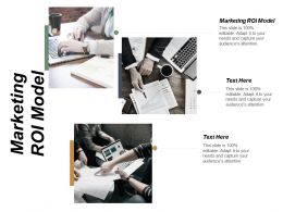 Marketing ROI Model Ppt Powerpoint Presentation File Information Cpb