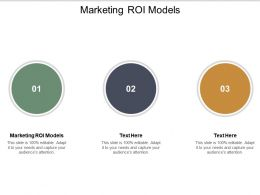 Marketing Roi Models Ppt Powerpoint Presentation Icon Vector Cpb