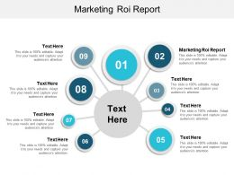 Marketing ROI Report Ppt Powerpoint Presentation Portfolio Slide Cpb