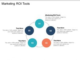 Marketing ROI Tools Ppt Powerpoint Presentation Gallery Inspiration Cpb