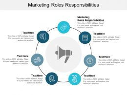 Marketing Roles Responsibilities Ppt Powerpoint Presentation Styles Guidelines Cpb
