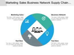 Marketing Sales Business Network Supply Chain Logistics Strategy Cpb