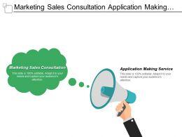 Marketing Sales Consultation Application Making Service Behavioral Web Marketing Cpb