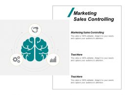Marketing Sales Controlling Ppt Powerpoint Presentation Icon Show Cpb