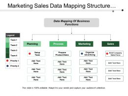 Marketing Sales Data Mapping Structure With Legend