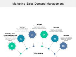 Marketing Sales Demand Management Ppt Powerpoint Presentation Show Deck Cpb